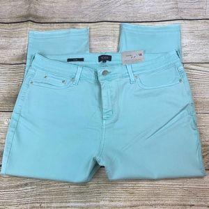 NYDJ Cabana Blue Cropped Capri Skinny Jeans